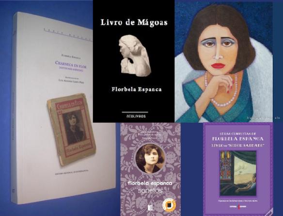 Collage de Mª Jesús Mandianes sobre la obra de Florbela Espanca