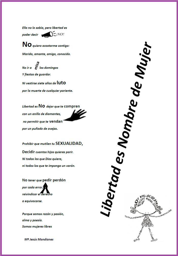 Poesia de Mª Jesús Mandianes en contra de la violencia de género